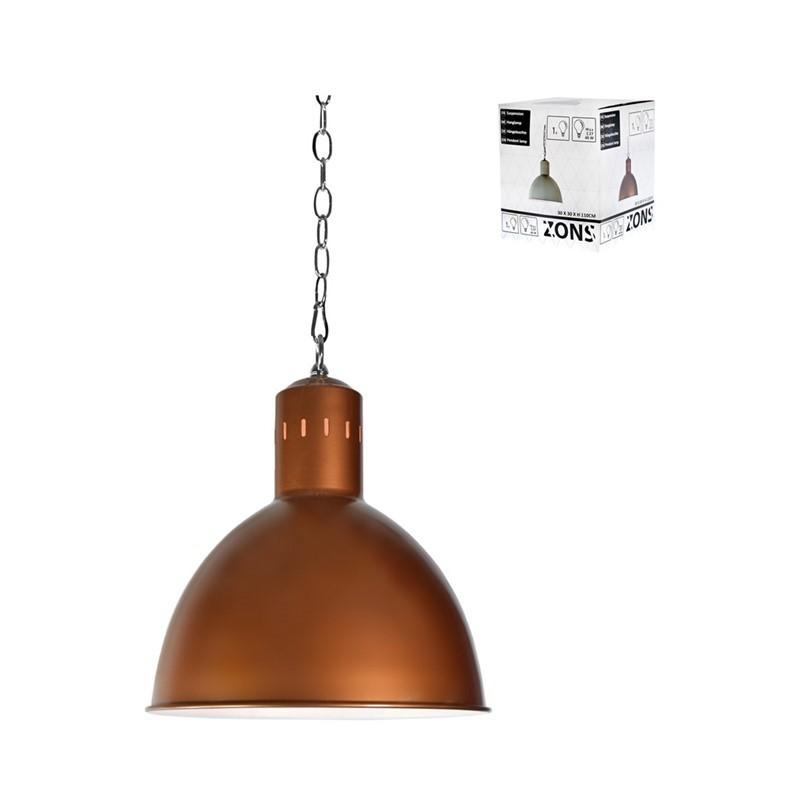Suspension métal Copper 30x30xH120cm