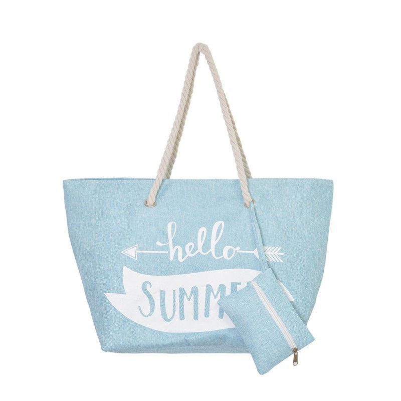 HELLO SUMMER Sac avec pocket 57x36x19cm Bleu