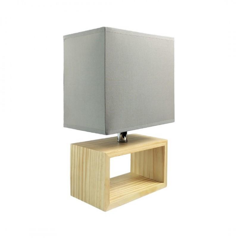 Sofy Lampe Poser 20x12x31cm En Gris Bois À cj4SR5q3AL