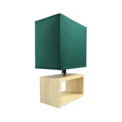 Lampe à poser en Bois 20X12X31CM Vert