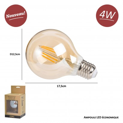 Ampoule LED Edison, Lampe Décorative Ampoules À Incandescence Rétro Edison Lampe 12 Pack [Classe Énergétique A+]