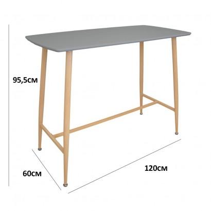 Table haute bar D60cm, H 103cm BLANC