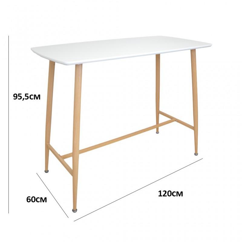 Table Haute De Bar.Klary Table Haute Blanche 4 Personnes