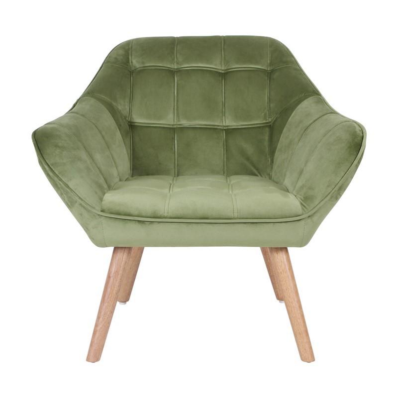 FELIZ Chair L. 82 x P. 75 x H. 75 cm in Green Velvet