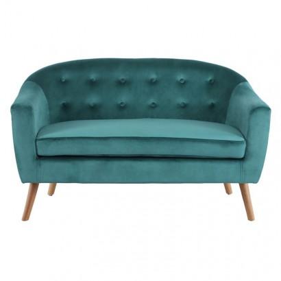 KLARY - Green velvet sofa