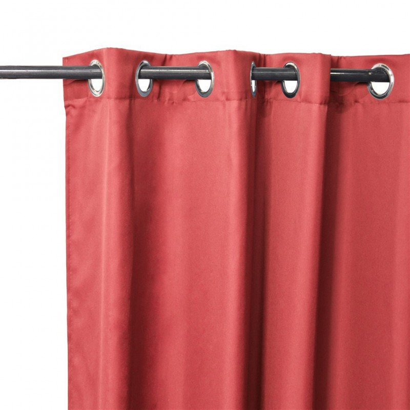 Pair of CORY curtain eyelets red 140x240cm