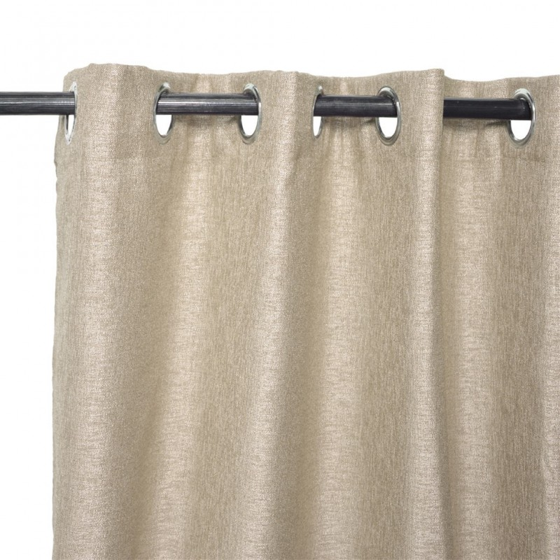 Pair ORLANDO eyelets blackout curtain 140x240cm beige