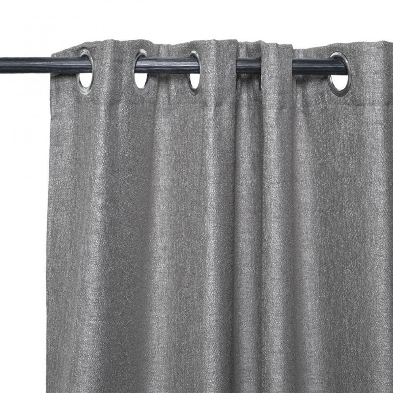 Curtain pair with eyelets blackout linen blackout faric C 140x240cm