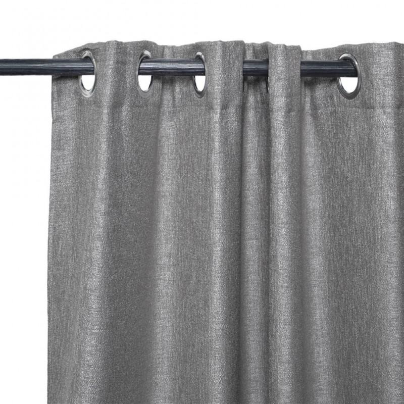 Lot de 2 rideaux à œillets occultant 140x240cm linen blackout faric