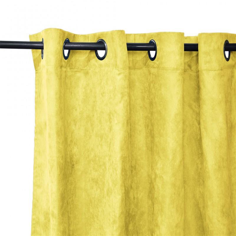 Lot de 2 rideaux à œillets occultant jaune 140x240cm