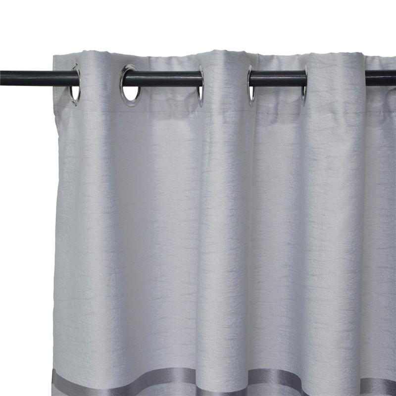 Lot de 2 rideaux à œillets occultant gris 140x260cm
