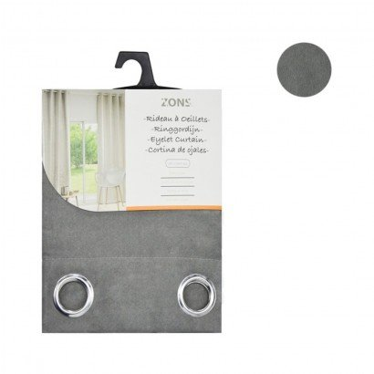 Pair curtain grommets suede...
