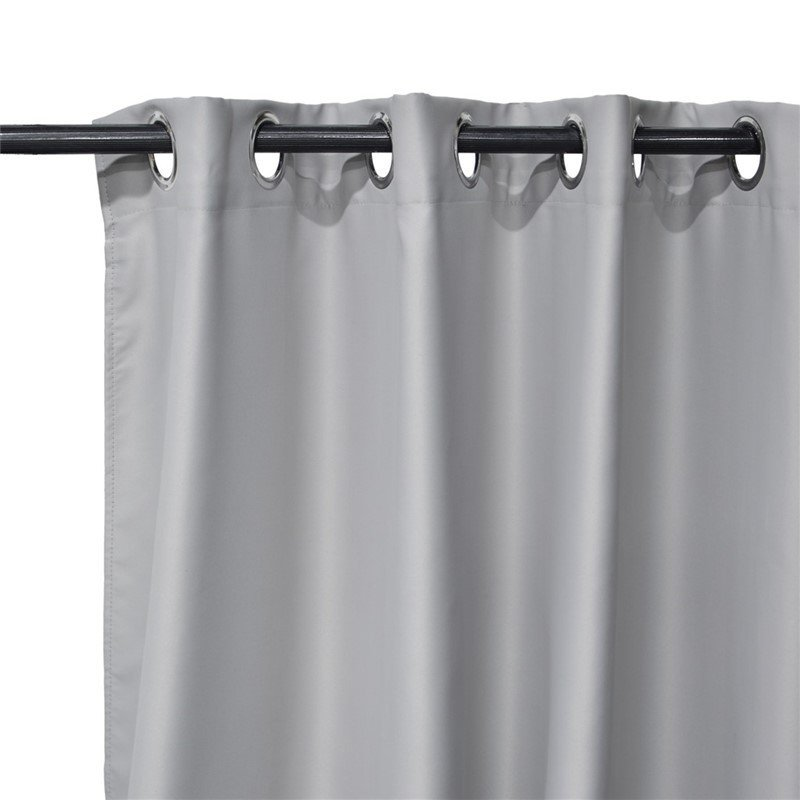 Pair of TRENDY curtain grommets obscuring grey 140x240cm