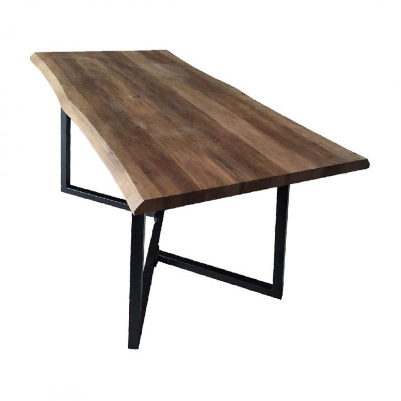 ALEXUS Table à manger L. 160 x P. 80 x H. 75 cm col Bois ep5