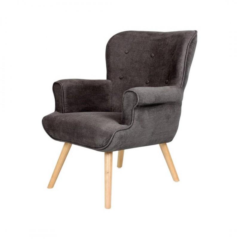 Anthracite fabric armchair - DANIO