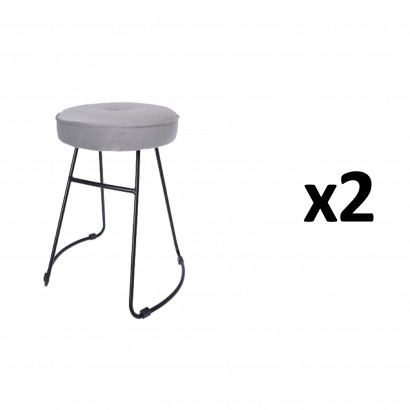 CHOLO Stool in GREY Set of 2