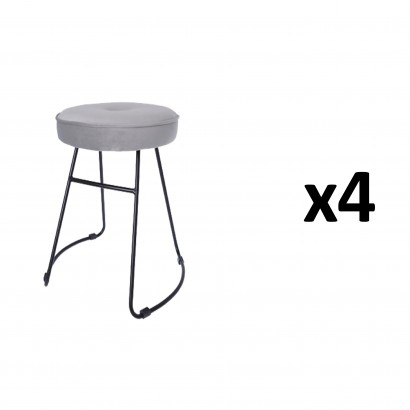 CHOLO Stool in GREY Set of 4