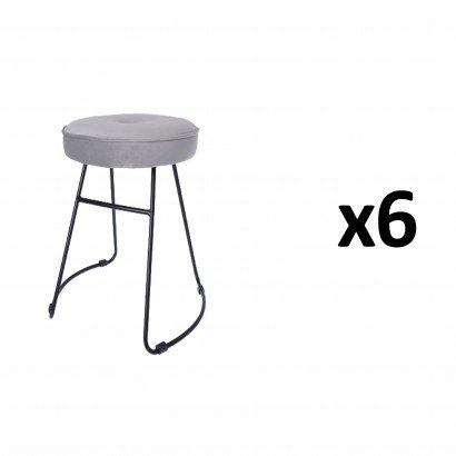CHOLO Stool in GREY Set of 6