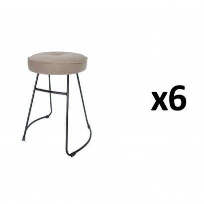 CHOLO Stool in TAUPE Set of 6