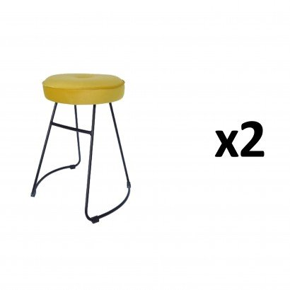 CHOLO Stool in YELLOW Set of 2