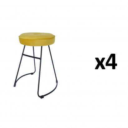 CHOLO Stool in YELLOW Set of 4