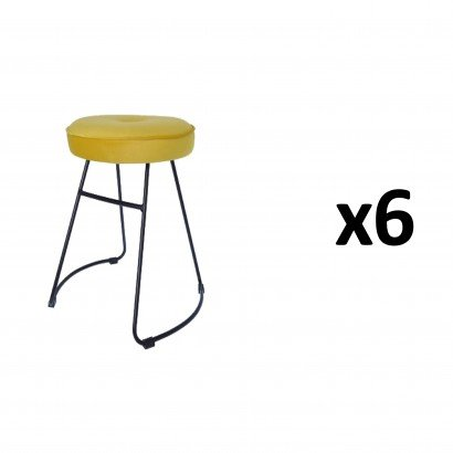 CHOLO Stool in YELLOW Set of 6
