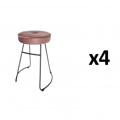 CHOLO Stool in PINK Set of 4