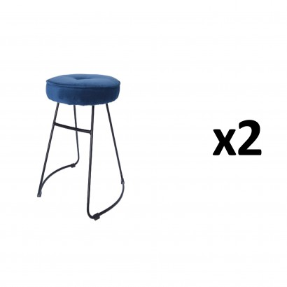 CHOLO Stool in BLUE Set of 2