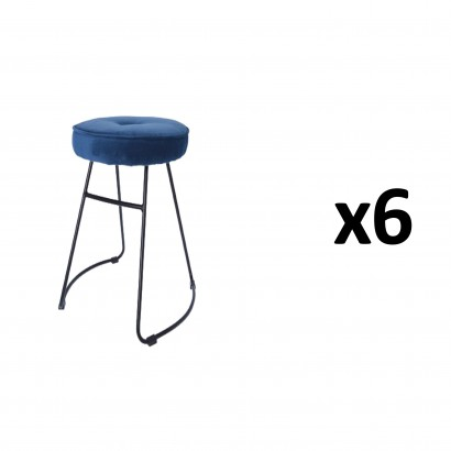 CHOLO Stool in BLUE Set of 6