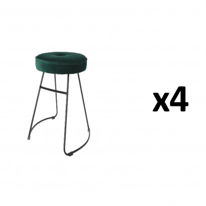 CHOLO Stool in DARK GREEN...