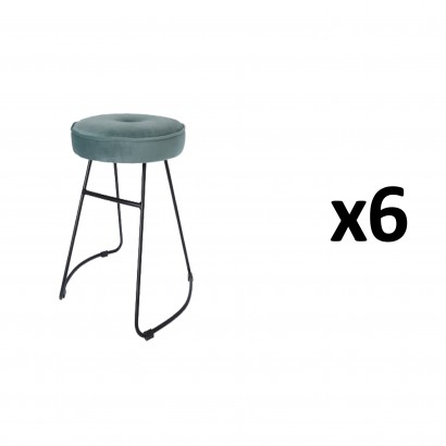 CHOLO Stool in BLUE GREEN...