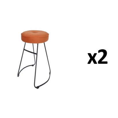 CHOLO Stool in ORANGE Set of 2
