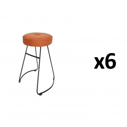 CHOLO Stool in ORANGE Set of 6