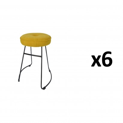 CHOLO Stool in SAFRAN Set of 6