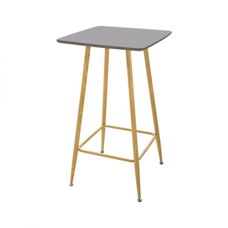 KLARY Table haute Mange debout carré gris