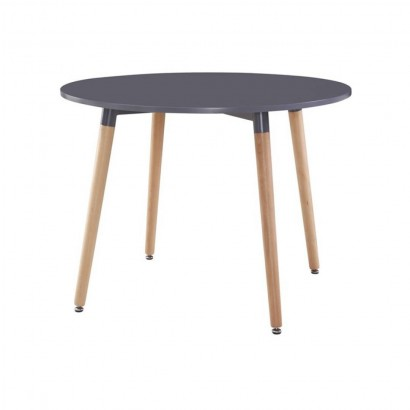KLARY Table ronde grise