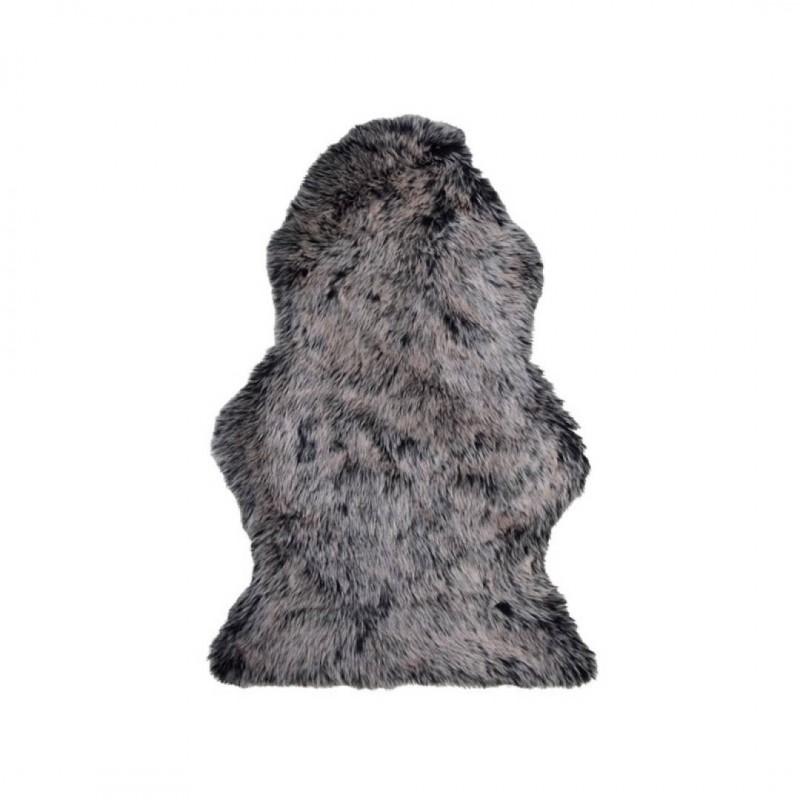 Dierenhuidtapijt met wolvenkleur 60*100 cm en antislipachterkant