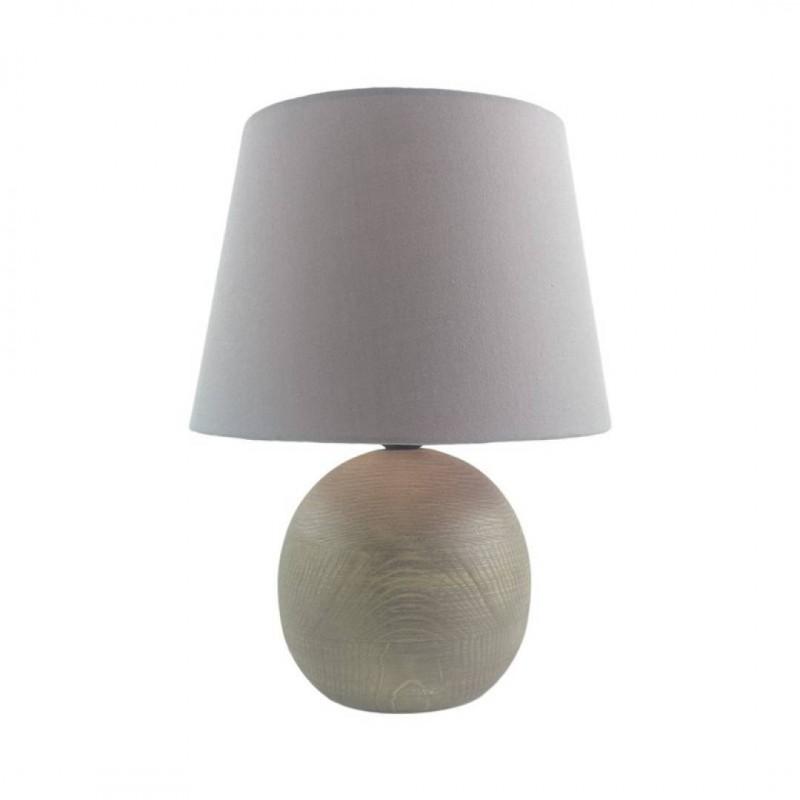 Lampe boule en bois Gris H40cm