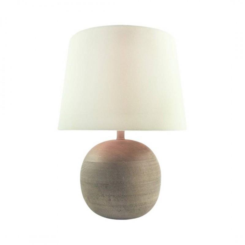 Lampe boule à poser  en bois Beige H40Cm