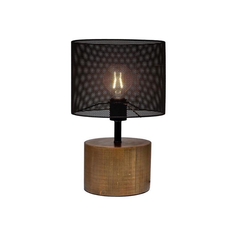 Lampe à poser en bois DIA25X36CM