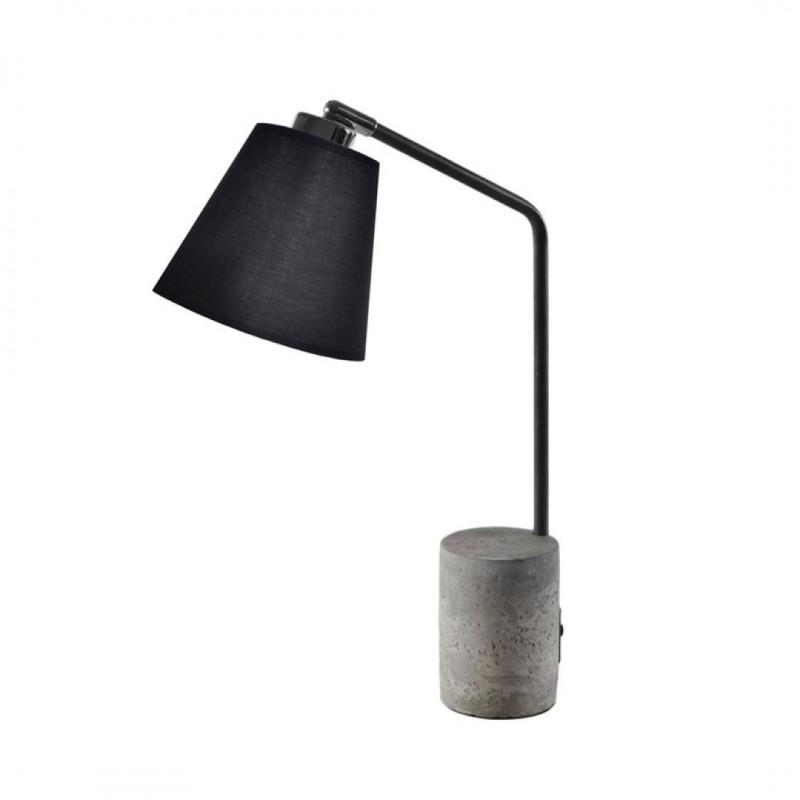 Lampe DESIGN en Bois + Ampoule 15x36xH46cm NOIR
