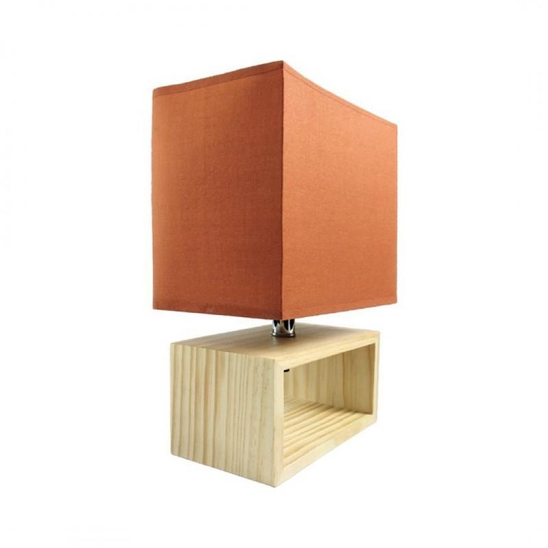 Lampe à poser en Bois 20X12X31CM Rouille