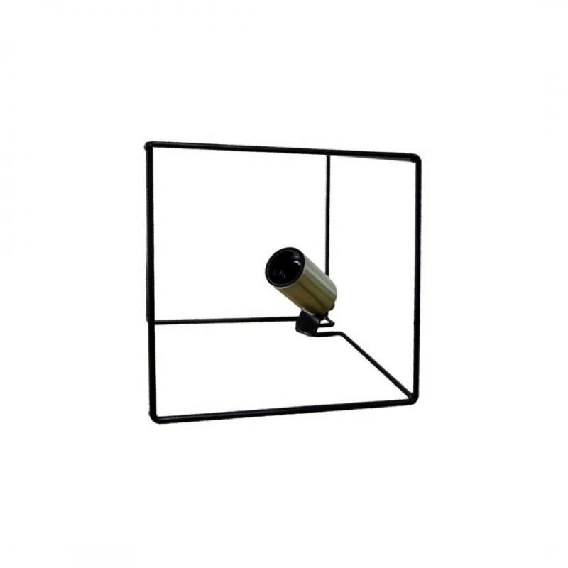 RUSH Metal Lamp Black 18.5x18.5x18.5cm