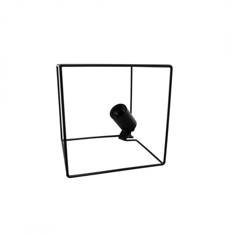 RUSH Metalen Lamp Zwart 18.5x18.5x18.5cm
