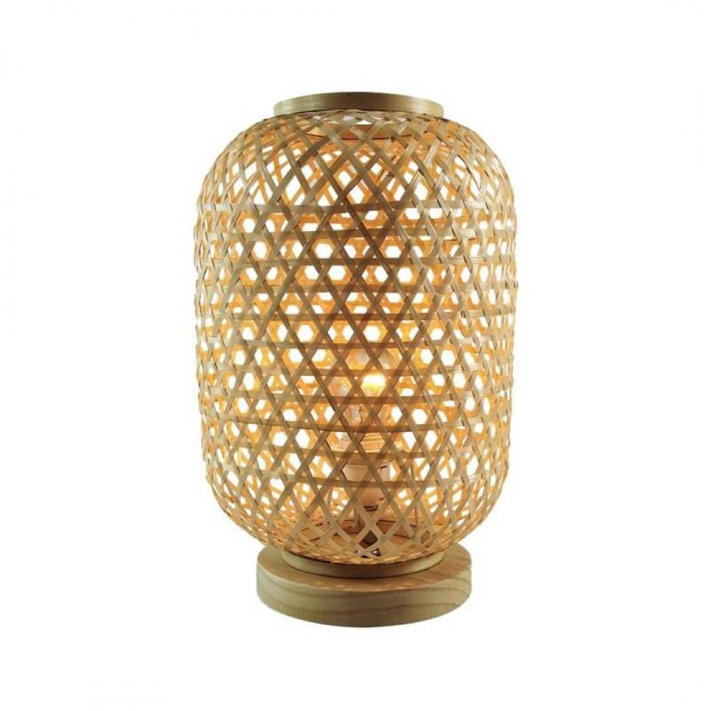 RAMY Lampe en rotin cannage