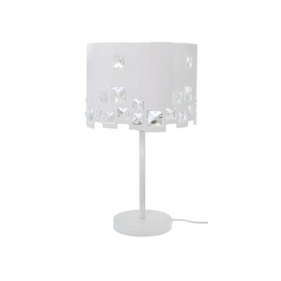 BAHIA Lampe en métal blanc
