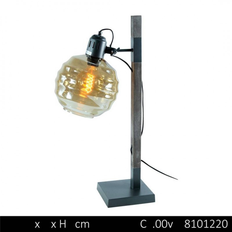 Lampe À Poser INDUSTRY D18x20,5x16xH48,5cm GRIS