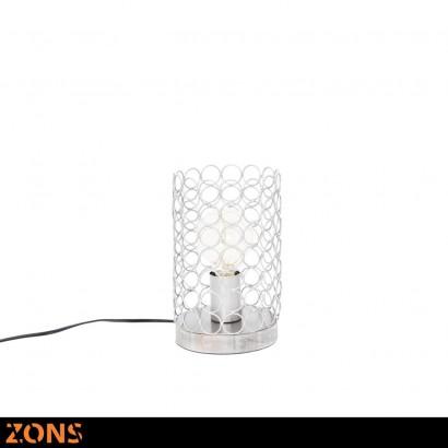 Lampe À Poser En Métal H23.5cm 4 Couleurs Assortis + Ampoule EDISON ROSE