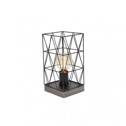 PALOMA Lampe métal Noir +...