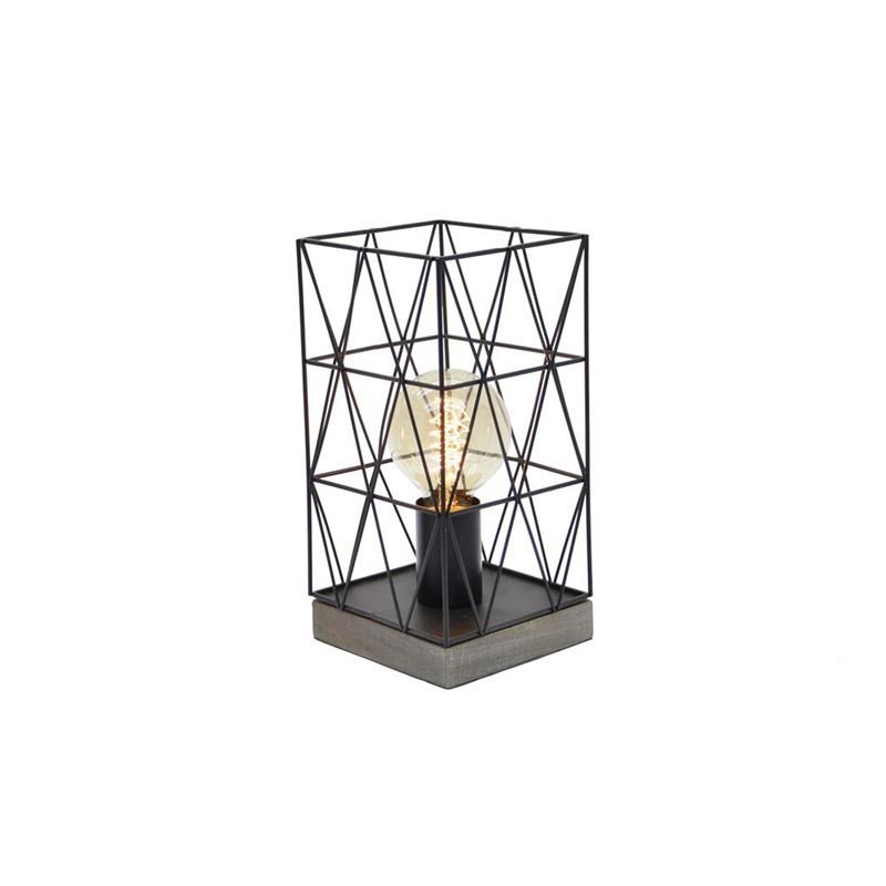 PALOMA lot de 2 Lampes à poser métal NOIR H26.5cm 3 Couleurs +ampoule